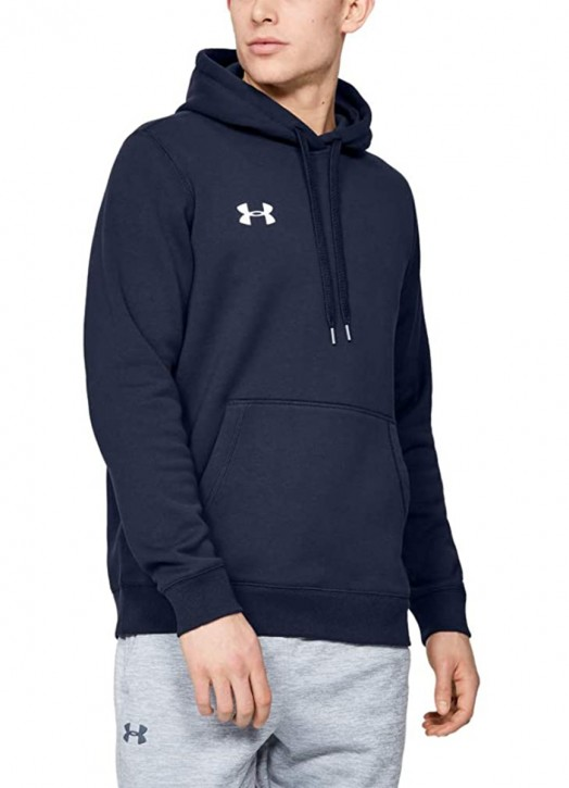 Men's Armour Fleece Hoodie Navy Blue