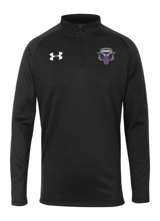 Men's Armour Fleece 1/4 Zip Black