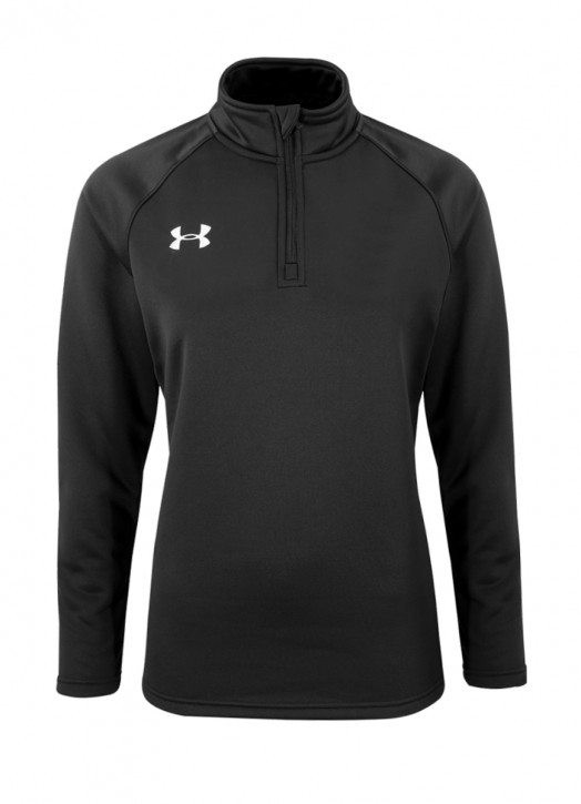 Women's Armour Fleece 1/4 Zip Black