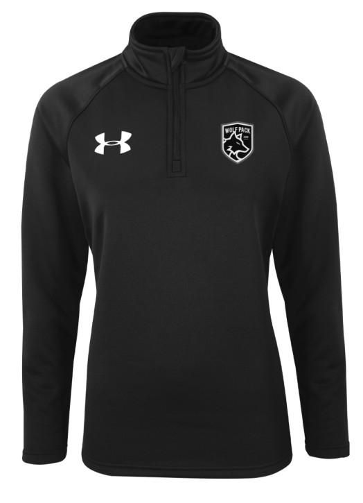 Women's Armour Fleece 1/4 Zip Black