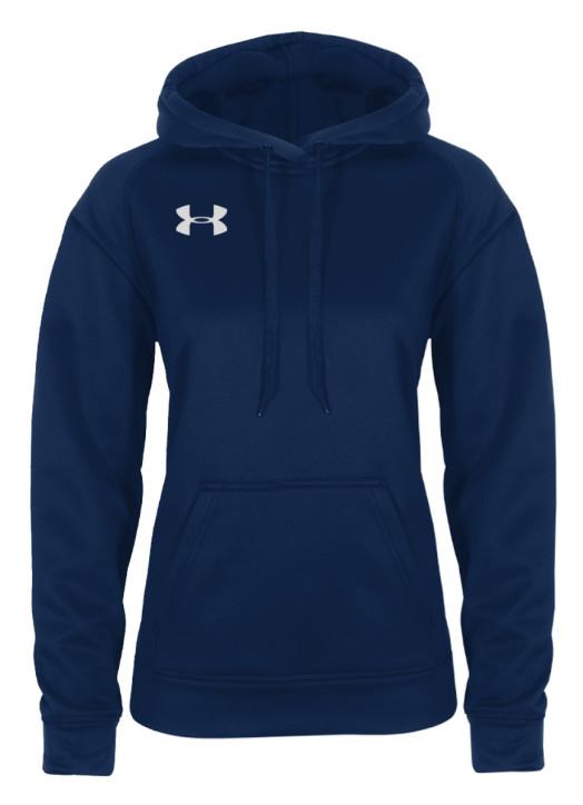 Women's Armour Fleece Hoodie Navy Blue