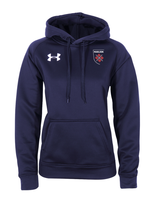 Women's Armour Fleece Hoodie Navy Blue