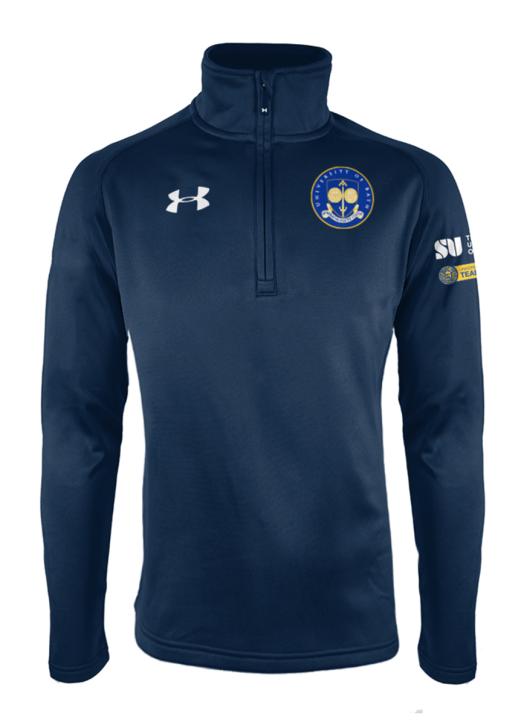 Women's Armour Fleece 1/4 Zip Navy Blue