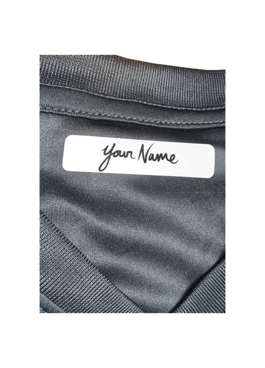 25 Iron On Name Labels White