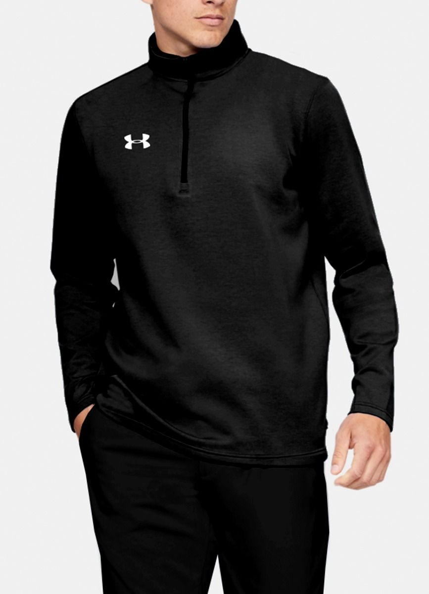 Men's Armour Fleece 1/4 Zip Black